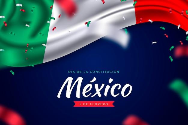 Realistischer mexikanischer verfassungstag