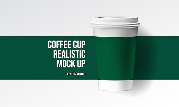 Realistischer mock der kaffeetasse