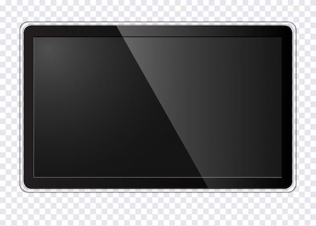 Realistischer moderner fernsehbildschirm