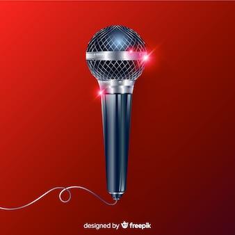 Realistischer moderner mikrofonhintergrund