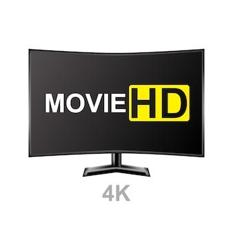 Realistischer monitor 3d