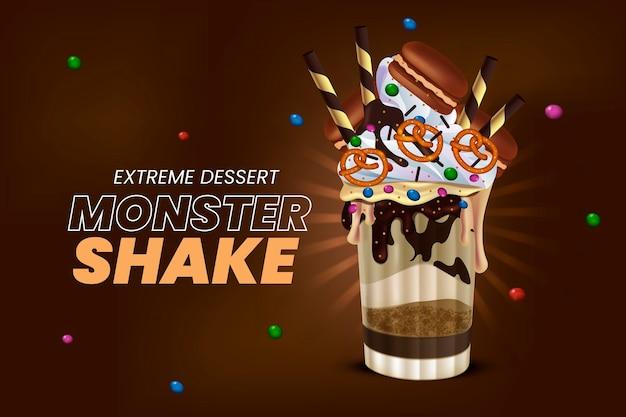 Realistischer monster-shake-hintergrund
