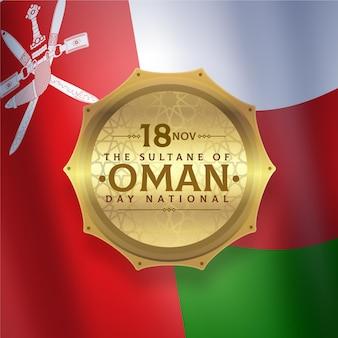 Realistischer nationalfeiertag von oman