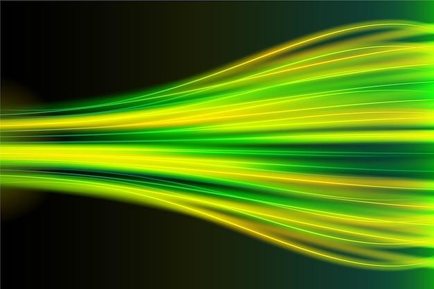 Realistischer neongeschwindigkeits-bewegungshintergrund