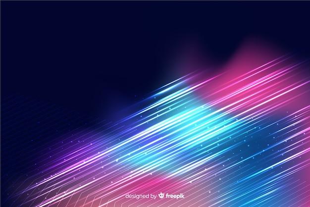 Realistischer neonlicht-technologiehintergrund