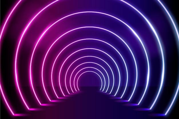 Realistischer neonlichthintergrund