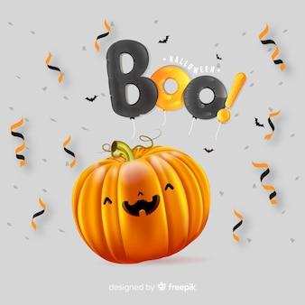 Realistischer netter halloween-kürbis
