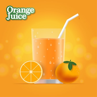 Realistischer orangensaft