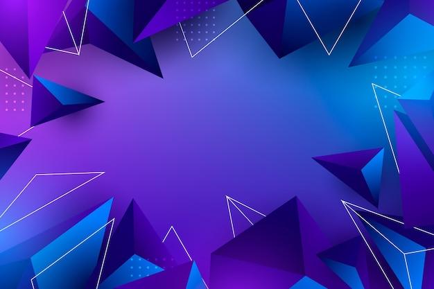 Realistischer polygonaler hintergrund mit punkten
