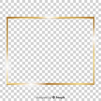 Realistischer quadratischer goldener rahmen