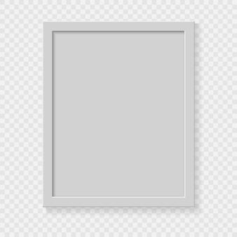 Realistischer quadratischer leerer bilderrahmen auf transparentem hintergrund.