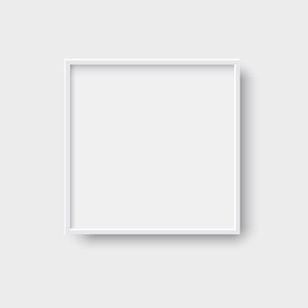 Realistischer quadratischer leerer bilderrahmen