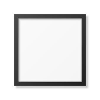 Realistischer quadratischer schwarzer rahmen lokalisiert auf weiß.