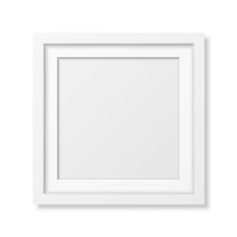 Realistischer quadratischer weißer rahmen