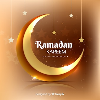 Realistischer ramadan-hintergrund