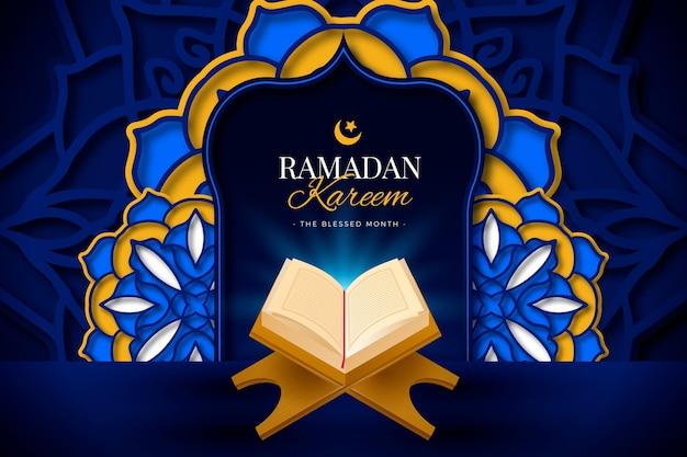 Realistischer ramadan kareem hintergrund