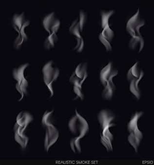 Realistischer rauch auf dunkelheit