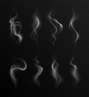 Realistischer rauch auf transparent