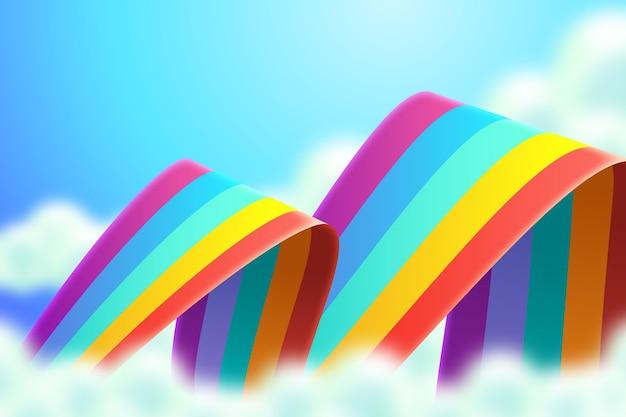 Realistischer regenbogenhintergrund