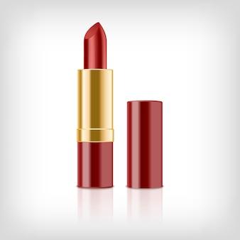 Realistischer roter lippenstift