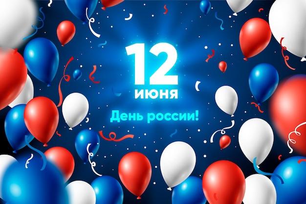 Realistischer russland-tageshintergrund
