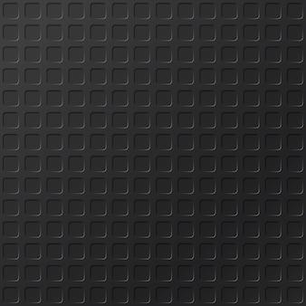Realistischer schwarzer metallhintergrund mit profilplattenmuster. nahtlose stahlstruktur. industriematerial nahaufnahmefläche für bodenbelag. nahtloses muster
