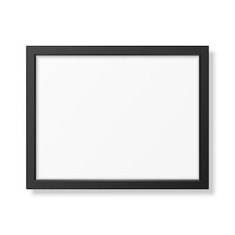 Realistischer schwarzer rahmen a4 lokalisiert auf weiß.