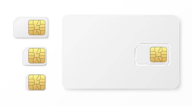 Realistischer sim-kartensatz