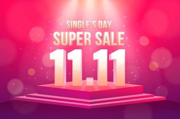 Realistischer singles day bokeh-effekt