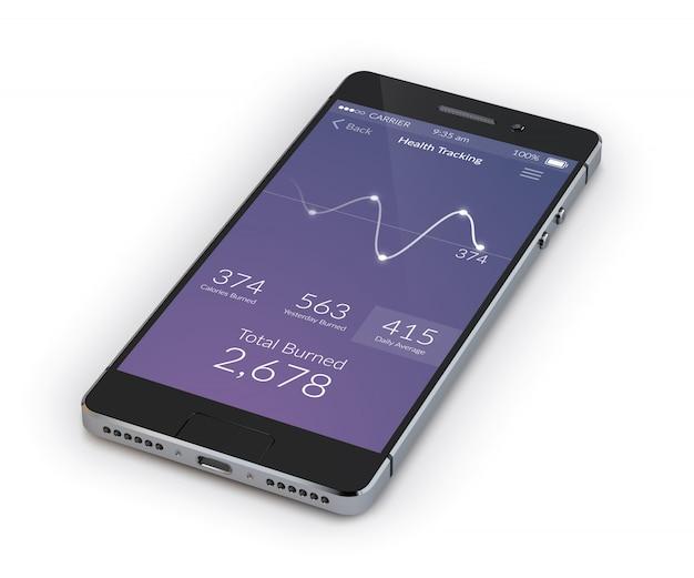 Realistischer smartphone 3d