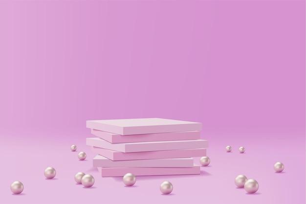 Realistischer sockel mit perlen