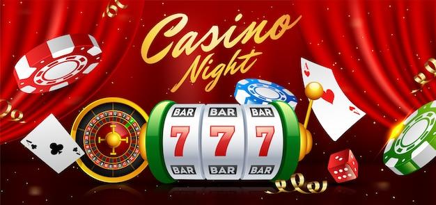 Realistischer spielautomat mit rouletterad