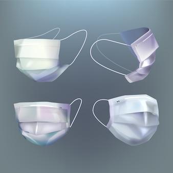 Realistischer stil der medizinischen maske