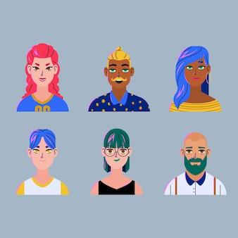 Realistischer stil für menschen avatare