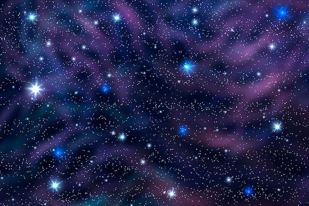 Realistischer stil galaxienhintergrund