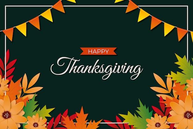 Realistischer stil thanksgiving hintergrund