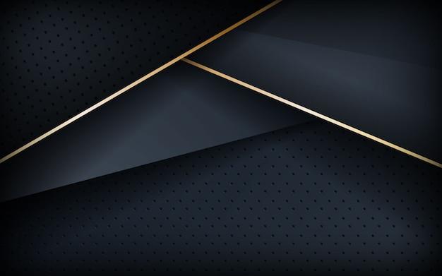 Realistischer strukturierter hintergrund mit goldener linie