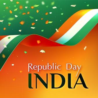 Realistischer tag der indischen republik