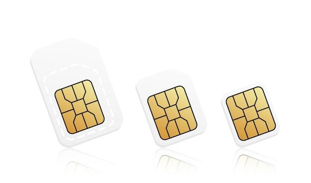 Realistischer telefonkartensatz Premium Vektoren