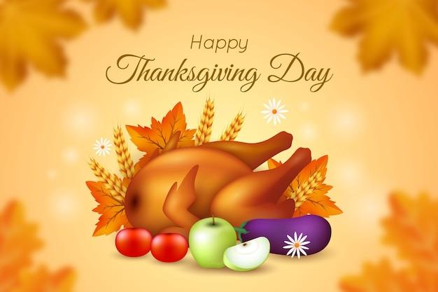 Realistischer thanksgiving-hintergrund