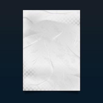 Realistischer transparenter zerknitterter plakateffekt