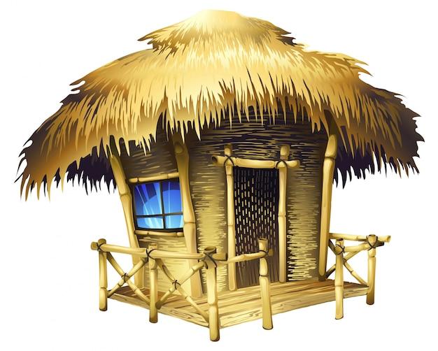 Realistischer tropischer bungalow