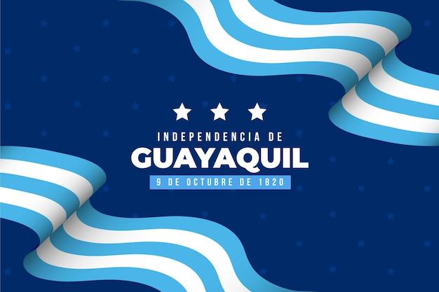 Realistischer unabhängiger hintergrund von guayaquil