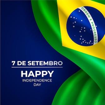Realistischer unabhängigkeitstag von brasilien hintergrund