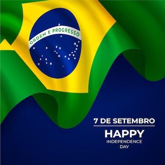 Realistischer unabhängigkeitstag von brasilien