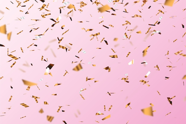 Realistischer unscharfer konfetti-hintergrund