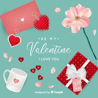 Realistischer valentinsgrußhintergrund