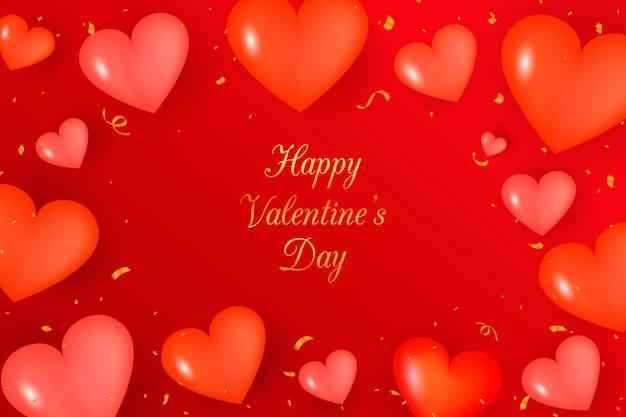 Realistischer valentinstag. valentinstag banner.