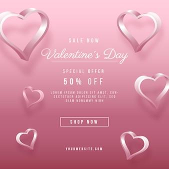 Realistischer valentinstag-verkauf