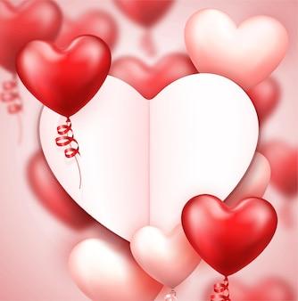 Realistischer valentinstaghintergrund mit platz für text